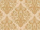 Vorhangstoff Samt Dinastia Ornamente Barock Gold beige