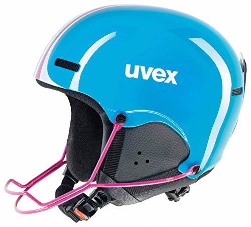 uvex HLMT 5 junior race Skihelm - cyan pink, Größe (Kopfumfang):S - L (55-59cm)
