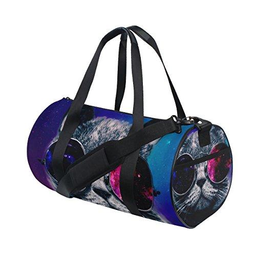 Jstel Abstract Nebula Universe Starry Cat Cool Lunettes de soleil Sports Sac de gym pour homme et femme Voyage Sac de sport
