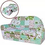 vidaXL Kindersofa mit Bettfunktion Sessel Schlafsofa Blumenmuster Kinderzimmer