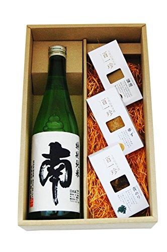 〔セット商品〕南 (みなみ) 特別純米 720ml おつまみ豆腐3点(しょうゆ味・ゆず味・青のり味)セット