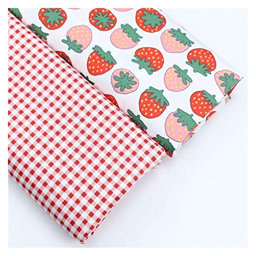 JIAHUI 2 piezas de tela de algodón para coser ropa de patchwork colcha hecha a mano de dibujos animados de tela de animales (color: No.16, tamaño: 50 x 80 cm)