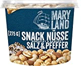 Maryland Snack-Nüsse Salz-Pfeffer Nussmischung Nussmix Becher Snack geröstet gewürzt gesalzen...