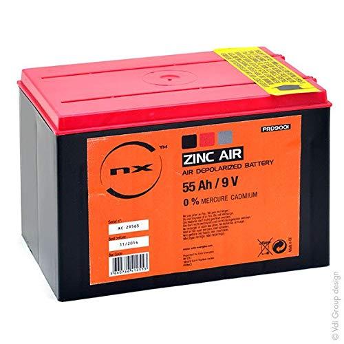 NX - Batterie Luftsauerstoff Zink-Kohle 9V 55Ah