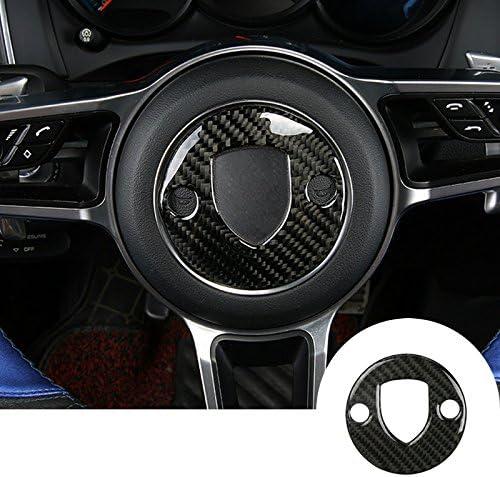 HOTRIMWORLD Carbon Fiber Interior Steering Trim Cov Wheel Button OFFicial shop 4 years warranty