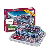 3D Sports Puzzle Model, Levante Unión Deportiva Estadio Vicente Calderón Sports Stadium Model(14.9inch X10.1inchX3inch)