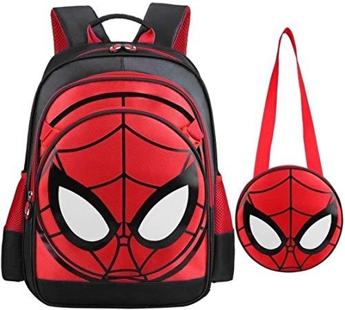 Mochila de héroe Junior Mochila for Aficionados Mochila for niños Spiderman 3D Spiderman-Blac Boys