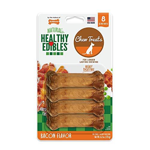 Nylabone Healthy Edibles Petite Bacon Flavored Dog Treats, 16 Count