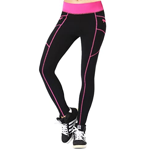 0445e33cfb4db Neonysweets Womens Outdoor Cotton Fitness Tights Leggings Running Yoga  Pants Phone Pockets