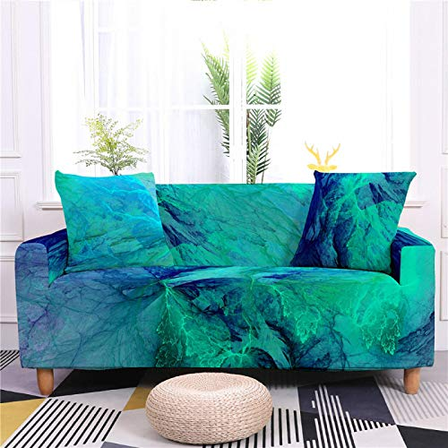 Universal Sofa Cover Spandex Stretch Couch Slipcover Vivid Blue Cloud Pattern Tight Fitted Armchair Loveseat Settee Cover 1/2/3/4 Seater Sofa Protector,1,seat 90,140cm