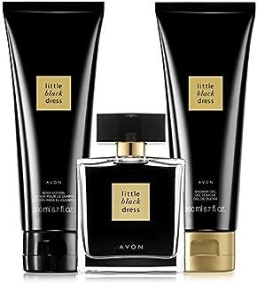 Avon little black dress 3 piece perfume, shower gel & body lotion gift set