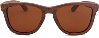 LUKEEXIN Vintage Classic Wooden Sunglasses, Polarized Lens for Men's Women's (Color : Brown)