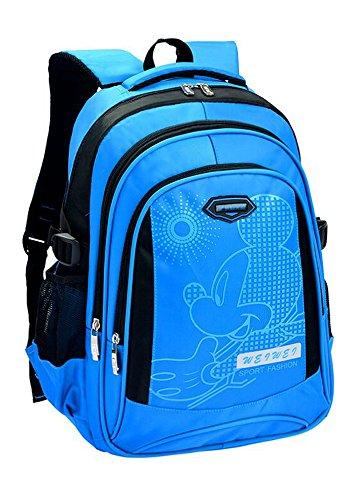 Puretime Unisex casuale stampato floreale Daypack grande contenitore scuola zaino / spalla Daypack (Blu)