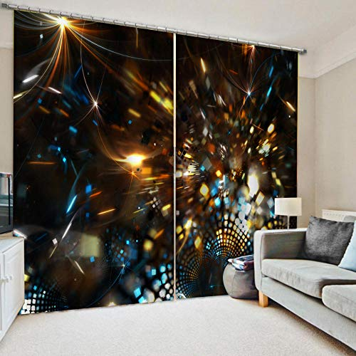 zpangg Black Out Window Cover Sparkling With Light Blackout For Children Bedroom Eyelet Thermal Insulated Room Darkening Curtains For Nursery Living Room Bedroom 184×214Cm