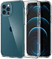 Spigen Ultra Hybrid Designed for Apple iPhone 12 Case (2020) / Designed for iPhone 12 Pro Case (2020) - Crystal Clear...