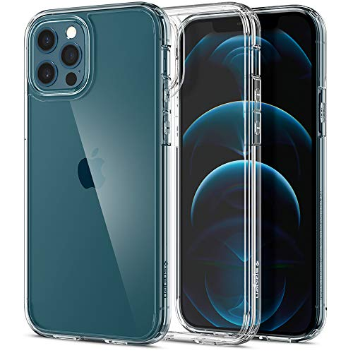 Spigen Funda Ultra Hybrid Compatible con iPhone 12 y Compatible con iPhone 12 Pro - Transparente