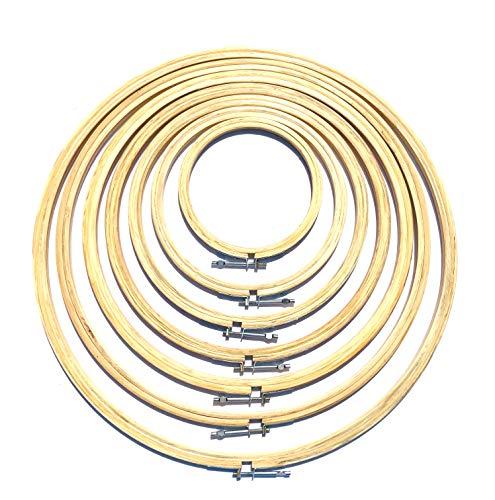 BiR kraft trä korsstygn | broderi ring ring ram | storlekar tillgängliga från 4 till 18 tum | Välj din storlek 4 - 10 cm