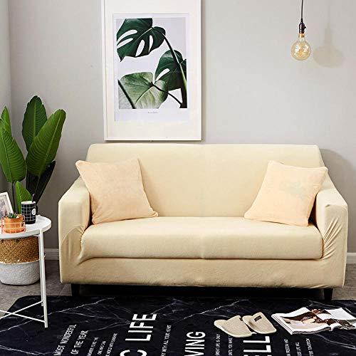 Funda Sofa Elastica Protector Adaptable,Funda de sofá acolchada de felpa de otoño e invierno, funda de sofá elástica antideslizante, funda de protección de muebles con todo incluido-16_90-140cm