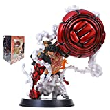 25Cm Anime One Piece Gear 4 Luffy Action Figure, Monkey D Luffy Gear Four PVC Collectible Model Toy Figurine Doll