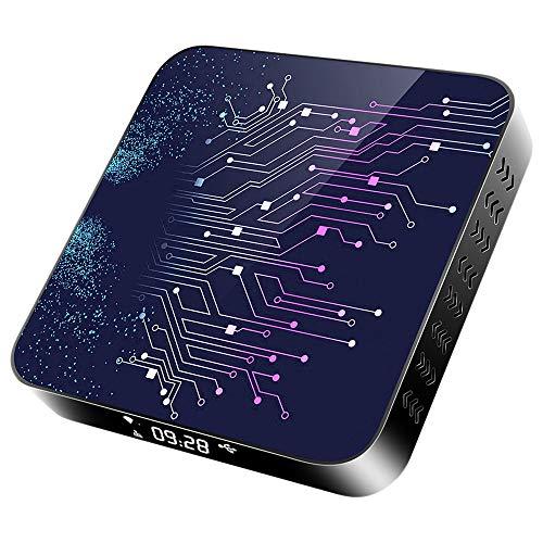 Domilay H50-2 TV Box Android 10.0 RK3318 2.4 / 5G Dual Band WiFi 4K 3D Network Set Top Box 4 + 32GB (Enchufe De La UE)