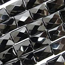 temura 14mm Faceted Black Onyx Rectangle Beads 15.5