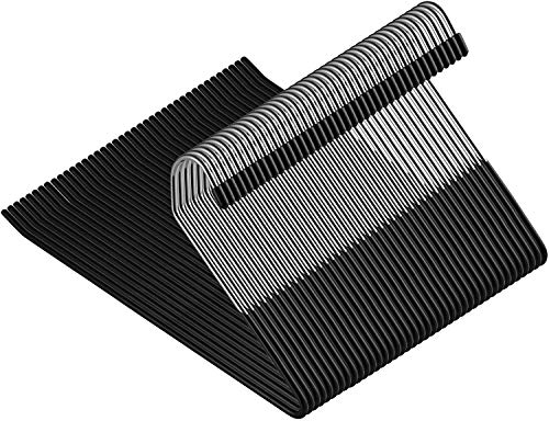 ZOBER SlackTrousers Pants Hangers - 40 Pack - Strong and Durable Anti-Rust Chrome Metal Hangers Non Slip Rubber Coating Slim Space Saving Open Ended Design for Easy-Slide Pant Jeans Slacks Etc