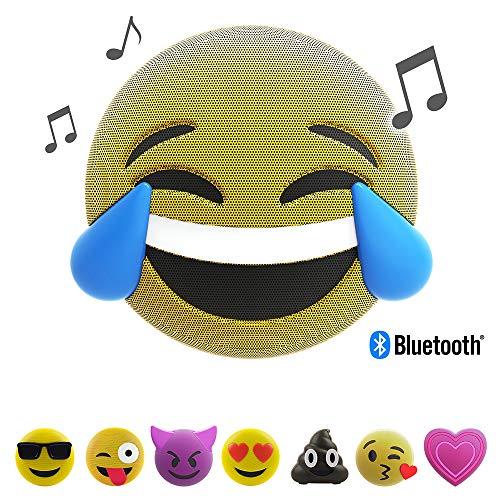 Jamoji Bluetooth Lautsprecherbox für Kinder, LOL, kabellose Lautsprecher mit LED-Beleuchtung, integriertem Mikrofon, AUX-Anschluß, Micro-USB Anschluß, akkubetrieben mit 6 Stunden Laufzeit