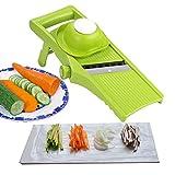 Voarge Manuelle Essen Slicer, Gemüsehobel 3 in 1 Gemüseschneider Profi Gemüsereibe...