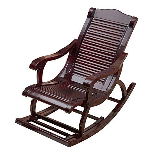 XLSQW Recliner-Stuhl, Chaise-Sonnenbaden-Stuhl Komfortable Entspannen Sie Sich dauerhafte Holzmöbelstühle Lounge-Stuhl Alten Mannstuhl, für Innenbüro