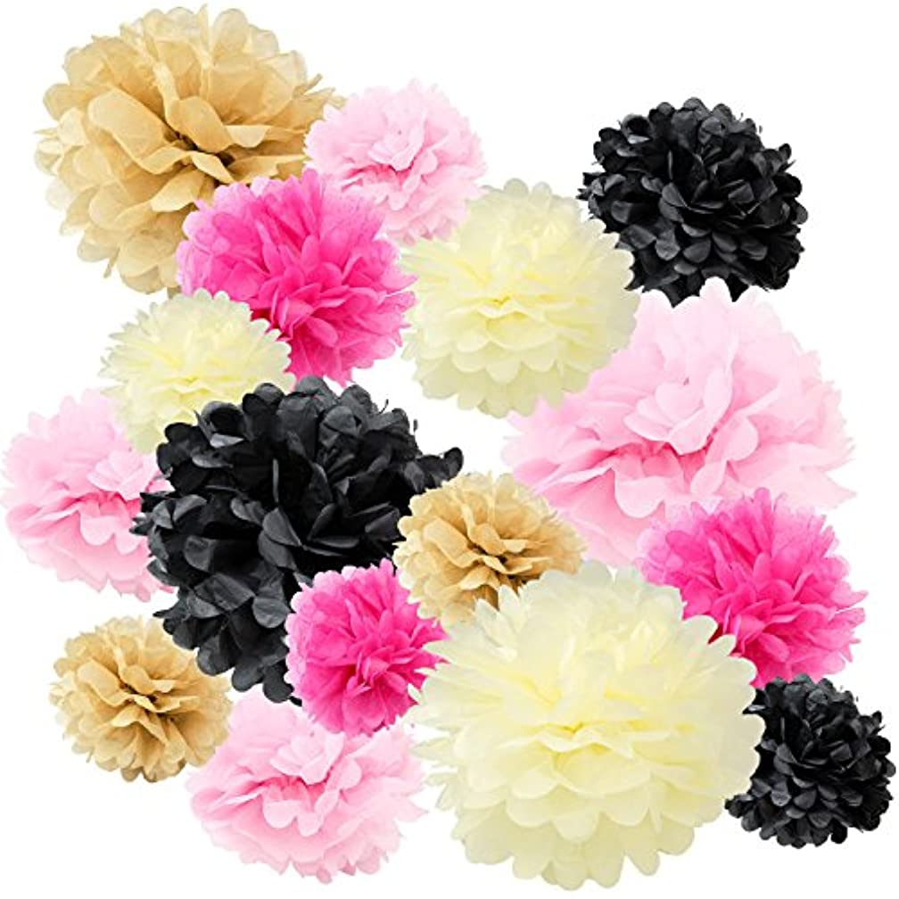 Floral Reef Variety Set of 16 (Assorted Cream Ivory Pink Black Color Pack) consisting of 8