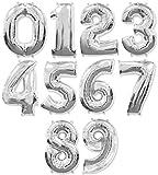 Dancing Queen Globos hinchables de papel de aluminio, set 0 – 9, tamaño XXL, globos de cumpleaños con número, globos de helio o globos de 100 cm de alto