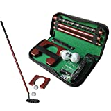 IMIFUN Portable Golf Putter Gift Set with Ball Hole-Cup Indoor Outdoor Golf Trainer Kit