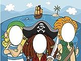Photocall Pirata 1x1,50m Infantil | Photocall Piratas | Photocall Económico y Original | Photocall Troquelado | Photocall Ideal para Celebraciones