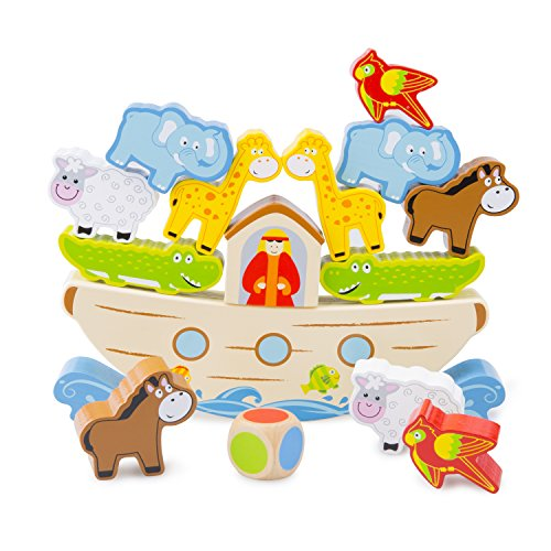 New Classic Toys- Jeu d'Equilibre-L'Arche de Noé, 10548