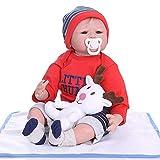 Alian 0-3 Meses Bebe Realitic Reborn Baby Doll Realista Tacto Suave ponderado Cuerpo enraizado Juguetes para el Cabello para niños 55 cm