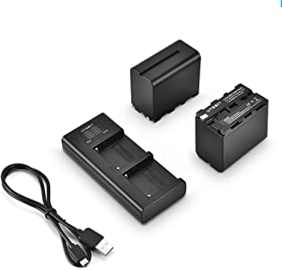 UTEBIT NP-F970 Battery Charger Set Rechargeable Li-ion F970 F960 Batte...