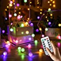 16.4FT 50 LED Crystal Crackle Globe String Lights (4 color options)