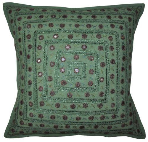 NANDNANDINI TEXTILE - Funda de cojín para sofá, decoración del hogar, hecha a mano, estilo hipppie, estilo indio