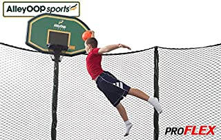 JumpSport Proflex Basketball Hoop Accessory & Inflatable Ball for Trampoline | Fits AlleyOOP, Elite Classic Safety Enclosures | Trampoline Sold Separately