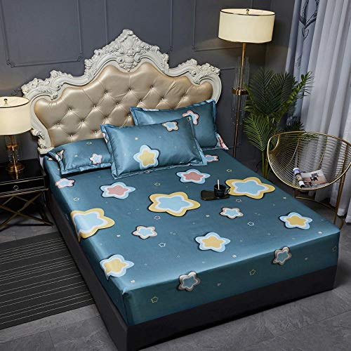 JRDTYS Super Soft Warm and Cosy Fitted Bed SheetThe bed cover is machine washable and non-slip-16_150cmx200cm+30cm