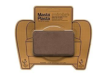MastaPlasta Self-Adhesive Premium Leather Repair Patch Medium Suede Brown - 4 x 2.4 Inch - First-aid for Sofas car Seats & More