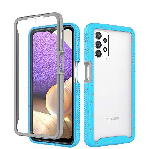 DOBILAS Schutzhülle für Samsung Galaxy A32 5G, stoßfest, mit integriertem Bildschirmschutz, Himmelblau