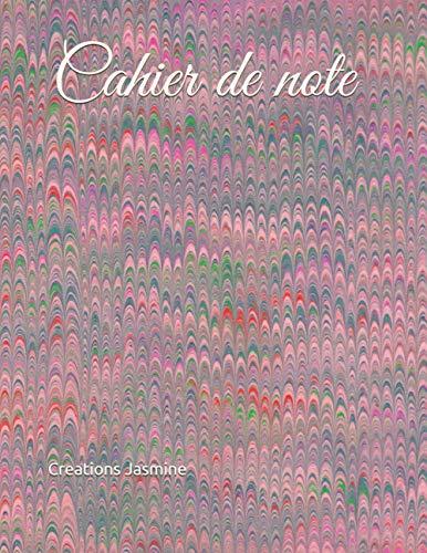Cahier de note ligné / couverture rouge – grand (8,5 pox11 po) – 60 pages