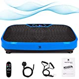 Outwin Fitness Plate 3D Power Vibration Plate Fitness Vibrating Machine with LED Display, Remote Control, Bluetooth Speaker, 3 Programs, Music, 2 Resistance Bands for Home, Office and Gym