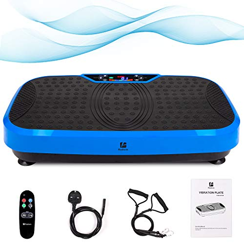 Outwin Fitness Plate 3D Power Vibration Plate Fitness Vibrating Machine with LED Display,...
