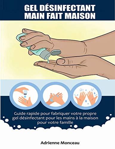 GEL DÉSINFECTANT MAIN FAIT MAISON: Guide rapide pour fabriquer votre propre gel désinfectant pour les mains à la maison pour votre famille