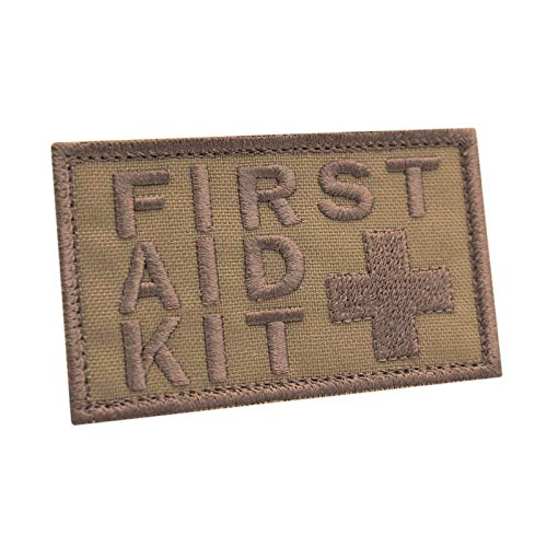 2AFTER1 Coyote First Aid Kit 2x3.25 IFAK Medic MED Trauma Paramedic Morale Touch Fastener Patch