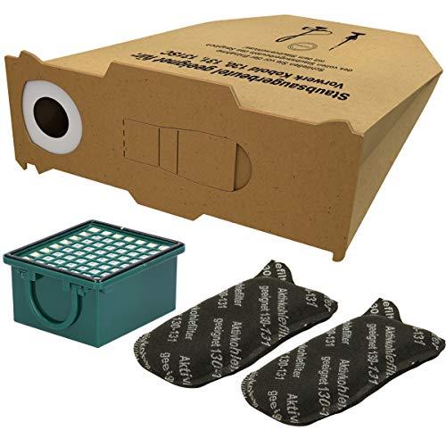 10 Staubsaugerbeutel + Filterset (1 Hepafilter, 2 Motorfilter) geeignet für Vorwerk Kobold 130, 131 SC/FP, VK 130 und VK131