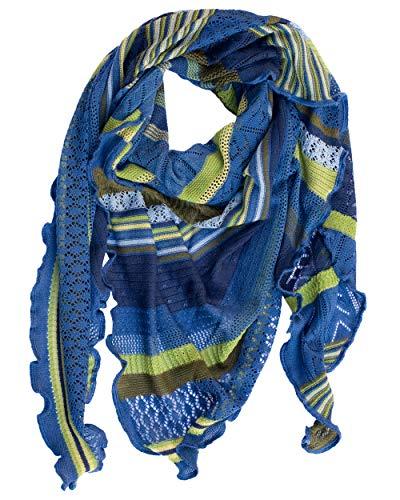Invero Kyra - Pañuelo triangular (100% lana) Lagune. Talla única
