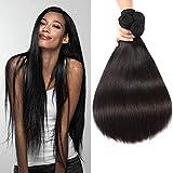Karbalu Hair 10A Brazilian Virgin Hair Straight 4 Bundles 18' 20' 22' 24' Brazilian Straight Hair Unprocessed Human Hair Weaves Brazilian Hair Weave Bundles Natural Black
